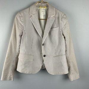 GAP Khaki Stripe Academy Blazer 4 P